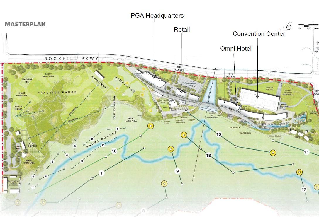 Master plan of future PGA site.